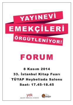 """""""Yayınevi emekçileri örgütleniyor"""", 8 Kasım'da TÜYAP'ta"""